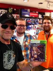 Michael with James and Jonathan at Gamestop
